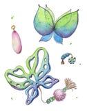Fee magische vleugels royalty-vrije illustratie