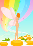 Fee - meisje met vlindervleugels Stock Afbeelding