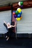 Fee met ballons Stock Fotografie