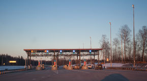 The fee station near Solnechnogorsk Stock Image