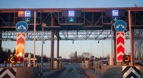 The fee station near Solnechnogorsk Stock Photo