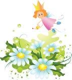 Fee und Blumen Lizenzfreie Stockfotos
