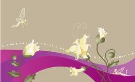 Fee-verhaal bloemenachtergrond. Stock Foto