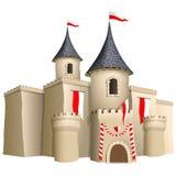 Fee-verhaal kasteel royalty-vrije illustratie