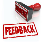 Feeback Stamp Word Approval Opinion Comment Review Stock Images