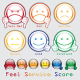 Feed Back Score. Feel Score Service Royalty Free Stock Photo
