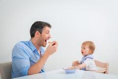 Feed child Stock Image