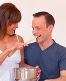 Feed couple Royalty Free Stock Images