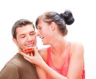Feed couple Stock Image