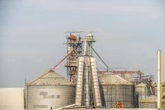 Feed factory or feed industrial for animal.  Stock Photos