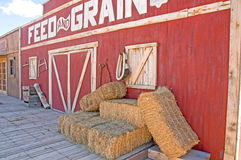 Feed and Grain Store. A country style fed and grain store front from a traditional western town stock images