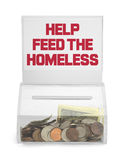 Feed Homelss Box Stock Photography