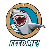 Feed Me Emblem Stock Photos