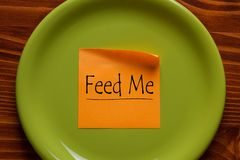 Feed Me Concept stock image