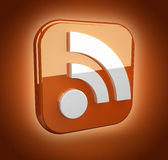 Feed or rss icon Royalty Free Stock Image
