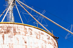 Feed silos Royalty Free Stock Image