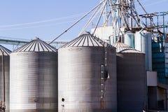 Feed silos Royalty Free Stock Photo