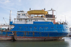 Feed vessel Volgoneft 128 Stock Image