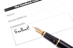 Feedback Stock Photography
