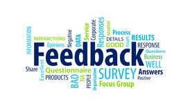 Feedback Word Cloud. On a White Background royalty free illustration