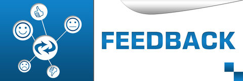 Feedback Banner with Icons Web Royalty Free Stock Photos