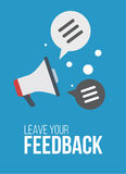FeedBack banner with megaphone text bubble flat minimalism poster Vector Illustration Royalty Free Stock Images
