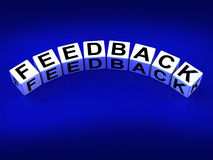 Feedback Blocks Means Comment Evaluate Royalty Free Stock Images