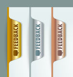 Feedback bookmarks Royalty Free Stock Image