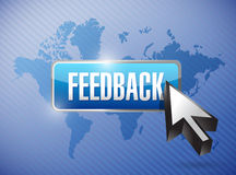 Feedback button illustration design Stock Photography