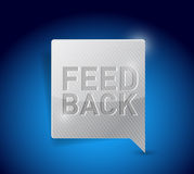 Feedback button pointer illustration Royalty Free Stock Image