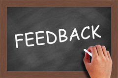 Feedback on chalkboard Royalty Free Stock Photography