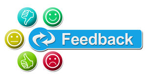Feedback Circular Colorful Elements Royalty Free Stock Images