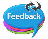 Feedback Colorful Comment Symbols Royalty Free Stock Photography