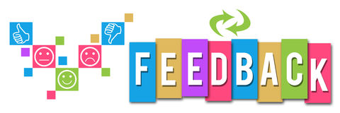 Feedback Colorful Elements Banner Stock Photos