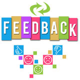 Feedback Colorful Elements Square Royalty Free Stock Photography