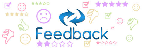 Feedback Colorful Symbols Banner Royalty Free Stock Photography