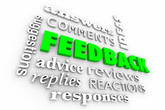 Feedback Comments Review Words Collage Royalty Free Stock Images