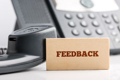Feedback concept Royalty Free Stock Photos