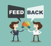 Feedback concept - businessman talk feedback Speech Bubble Royalty Free Stock Photo