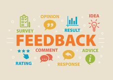 FEEDBACK Concept with icons. And signs Royalty Free Stock Images