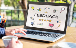 Feedback Concept On Laptop Monitor Royalty Free Stock Photos