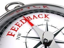 Feedback conceptual compass Stock Images