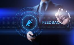 Feedback Customer satisfaction review testimonials service business concept. royalty free illustration