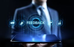 Feedback Customer satisfaction review testimonials service business concept. stock illustration