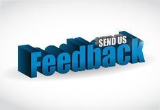 Feedback 3d blue sign illustration design Stock Images