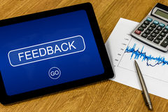 Feedback on digital tablet Royalty Free Stock Images
