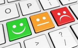 Feedback dos inquéritos aos clientes da qualidade do negócio ilustração royalty free