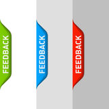 Feedback element. Set of Feedback elements vector illustration Stock Photography