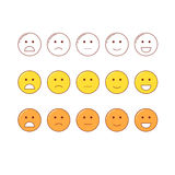 Feedback emoticon scale. Royalty Free Stock Photos