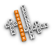 Feedback form crossword Royalty Free Stock Image